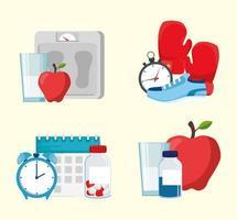 Healthy lifestyle concept vector design