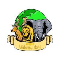 World wildlife day vector illustration