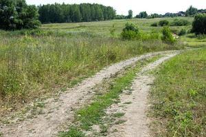 el camino se extiende en la distancia foto
