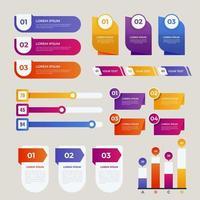 elementos coloridos de infografía vector