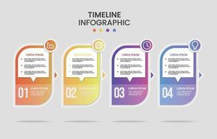 Gradient Timeline Infographic vector