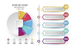 step by step infographic vector