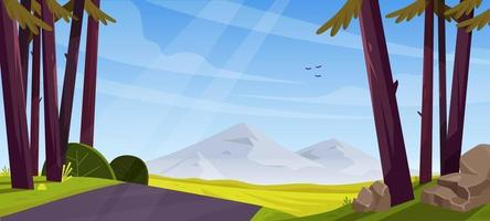 Natural Scenery Background vector