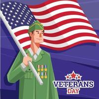 Veterans Day Concept vector
