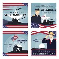 US Veterans Day for Social Media Feeds vector