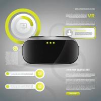 Virtual Reality Realistic Infographic vector