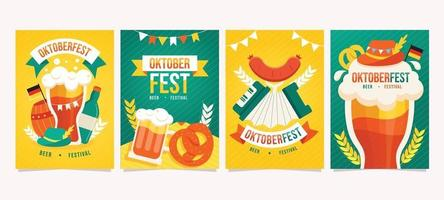 Oktoberfest Party with Food and Music vector