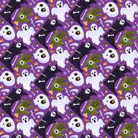 Halloween death holiday seamless pattern vector