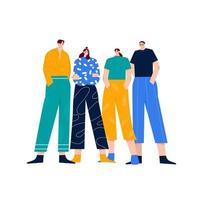 team flat illustration vector