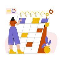 Bussiness Planning flat illustration vector
