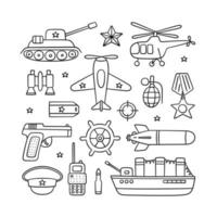 Objects for Defender of the Fatherland Day and Victory day vector