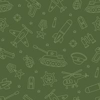 Seamless pattern for Defender of the Fatherland Day and Victory day vector