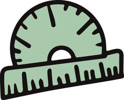 Vector isolated element back to school protractor