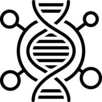 Line icon for dna vector