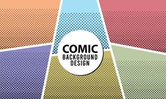 Comic book page background with halftone effects  in pop-art style. vector