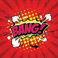 Bang Comic Speech Bubble, Cartoon. vector