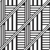 Black linear chaos geometric seamless pattern vector