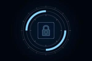 Cyber security technology concept , Shield With Keyhole icon vector