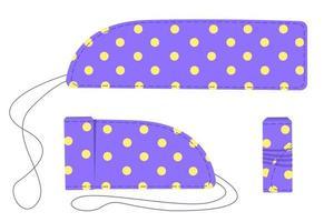 Reusable cotton cloth tampons. Zero waste periods. Eco lifestyle vector
