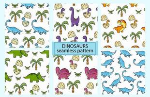 Dinosaurs. Colorful seamless pattern for decorating a children's room vector
