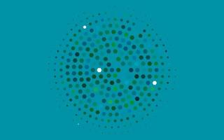 Light Blue, Green vector background with hexagons.