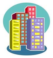 Skyscraper City Tower Graphic Scene vector