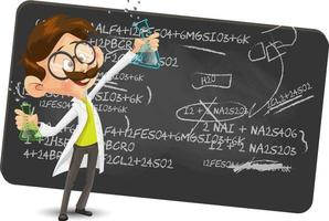 Cartoon Scientist character Making a Discovery vector Illustration