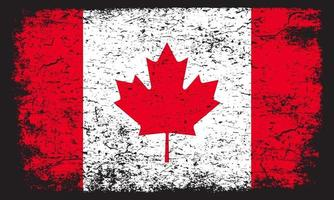 Grunge flag of CANADA distressed textured effect vector