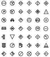 traffic sign icon line style vector