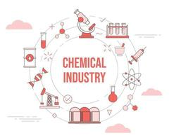 chemical industry concept vector