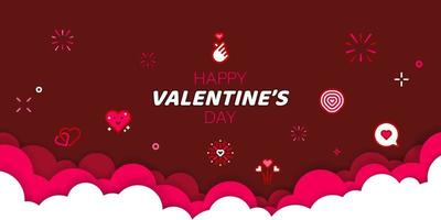 Valentine's day banner vector illustration.