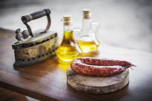 Traditional Spanish smoked pork photo