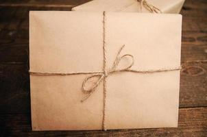 Gift for the holiday with an envelope photo