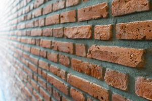 Orange brick wall photo