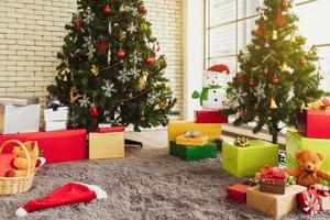 Living room decorated for Christmas photo