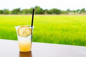 iced lemonade on table photo