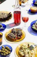 The delicious gulas dish assortment photo