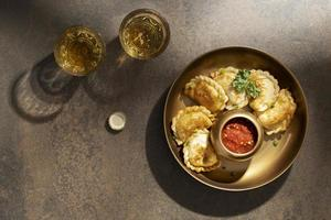 The delicious sambal dish arrangement photo