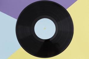 composición plana de discos de vinilo foto