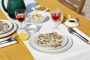 The delicious gulas dish arrangement photo