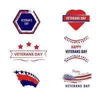 Veterans Day Celebration National American Holiday Icons, stickers vector