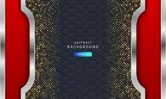 Luxurious dark background with carbon fiber hexagon texture vector