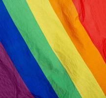 Rainbow flag of the LGBTQ movement photo
