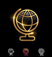 Golden Globe Vector Sign