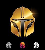 Gold Star Wars Helmet vector