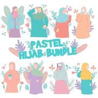 ocho niña con hijab adecuado para ilustración islámica vector