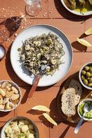 The traditional gulas dish arrangement photo