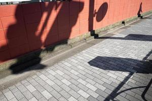 Abstract daytime shadows from outdoors photo