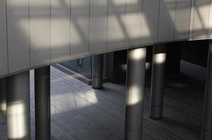 View city building with daylight shadows photo