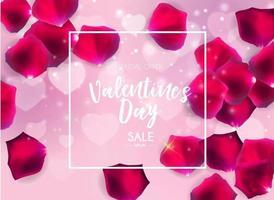diseño de fondo de venta de amor y sentimientos de san valentín vector